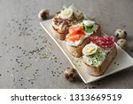 plate with fresh tasty... | Shutterstock . vector #1313669519