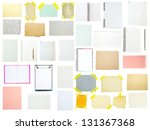 collection of old note paper on ... | Shutterstock . vector #131367368