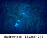 concept of future... | Shutterstock .eps vector #1313684246