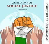 world day of social justice  | Shutterstock .eps vector #1313688050