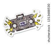 distressed sticker of a retro... | Shutterstock .eps vector #1313688530