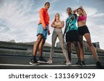full length of multi ethnic... | Shutterstock . vector #1313691029