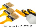 plastering and painting... | Shutterstock . vector #131370119