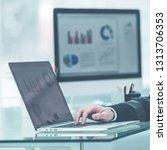 finance specialist working on... | Shutterstock . vector #1313706353