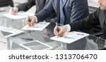 close up.businessman checking... | Shutterstock . vector #1313706470