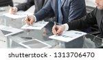 close up.businessman checking... | Shutterstock . vector #1313706470