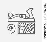 jack plane icon line symbol....