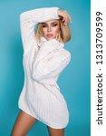 fashion model girl full length... | Shutterstock . vector #1313709599