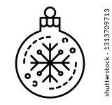 snowflake bubble line icon    Shutterstock .eps vector #1313709713