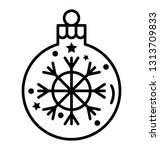 snowflake bubble line icon    Shutterstock .eps vector #1313709833