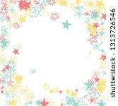 doodle stars frame. hand drawn...   Shutterstock .eps vector #1313726546