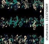 strokes of musical notes.... | Shutterstock .eps vector #1313730809