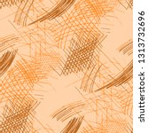 various pen hatches. seamless... | Shutterstock .eps vector #1313732696