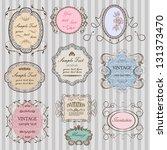 set of elegant vintage frames | Shutterstock .eps vector #131373470