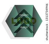 modern icon design logo element ... | Shutterstock .eps vector #1313734946