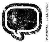 speech bubble distressed icon...   Shutterstock .eps vector #1313743430