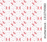 dots and lines pattern. elegant ... | Shutterstock .eps vector #1313745083