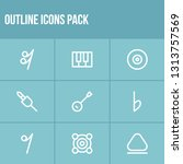 sound icon set and webcam with...