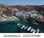 aerial drone photo of iconic... | Shutterstock . vector #1313757680