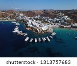 aerial drone photo of iconic... | Shutterstock . vector #1313757683