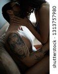sexy couple in underwear.... | Shutterstock . vector #1313757980
