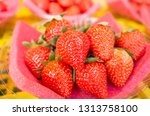heap of strawberry at the...   Shutterstock . vector #1313758100