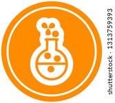 science experiment circular...   Shutterstock .eps vector #1313759393