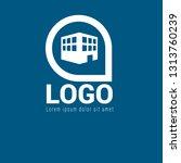 3d building logo concept....