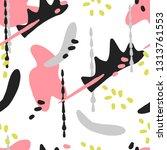 seamless modern pattern with... | Shutterstock .eps vector #1313761553
