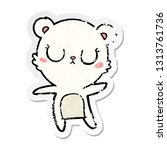 distressed sticker of a... | Shutterstock .eps vector #1313761736