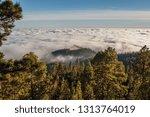 stunning clouds landscape.... | Shutterstock . vector #1313764019