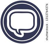 speech bubble circular icon...   Shutterstock .eps vector #1313764376