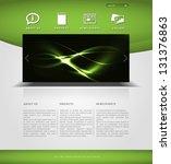 website template in editable... | Shutterstock .eps vector #131376863