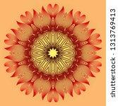 vector with mandala pattern.... | Shutterstock .eps vector #1313769413