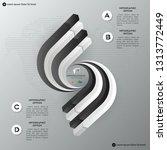 black modern infographic vector ... | Shutterstock .eps vector #1313772449