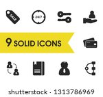 job business icons set with 24...