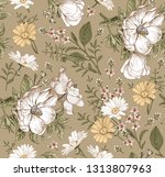 seamless pattern. realistic... | Shutterstock .eps vector #1313807963