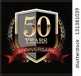 anniversary golden label | Shutterstock .eps vector #131381039