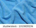 photo of blue wave microfiber... | Shutterstock . vector #1313820236