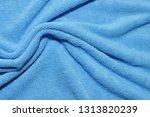 photo of blue wave microfiber... | Shutterstock . vector #1313820239