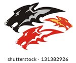 wolf flame symbol. three... | Shutterstock .eps vector #131382926