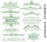 vector set  calligraphic design ... | Shutterstock .eps vector #131383874