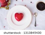 mousse dessert in the shape of... | Shutterstock . vector #1313845430