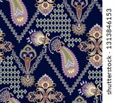 seamless pattern with ornate...   Shutterstock .eps vector #1313846153