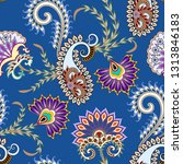 seamless bright pattern with... | Shutterstock .eps vector #1313846183