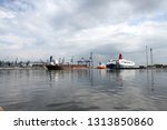 logistics and transportation of ... | Shutterstock . vector #1313850860