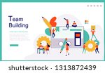 web page design template for... | Shutterstock .eps vector #1313872439