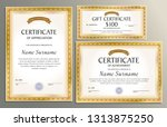 certificate template  gift... | Shutterstock .eps vector #1313875250