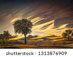 Scenic Sunset Landscape View O...