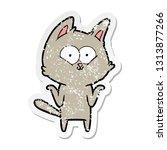distressed sticker of a cartoon ... | Shutterstock .eps vector #1313877266